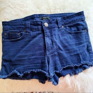 Forever 21 Navy Jean Shorts